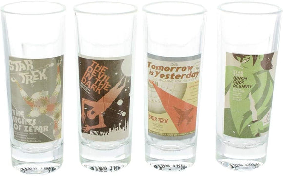 ST TOS FINE ART SHOT GLASS 4PC SER 12 SET