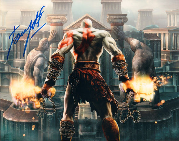 Autographed Photo from God of War: Terrence C. Carson as Kratos