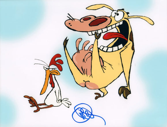 Autographed Photo from Cow and Chicken: Charles Adler as Cow