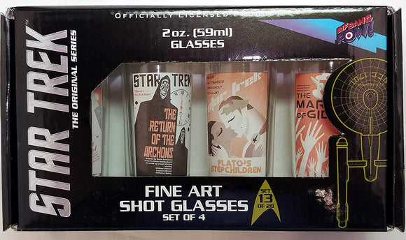 ST TOS FINE ART SHOT GLASS 4PC SER 13 SET
