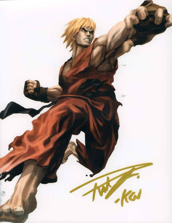 Autographed Photo from Street Fighter: Reuben Langdon as Ken-2