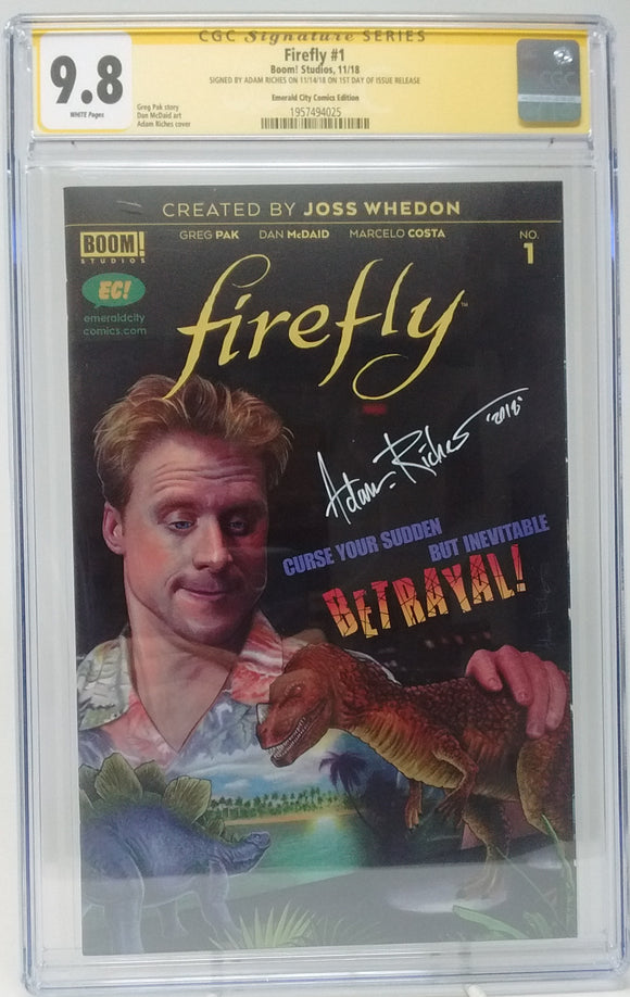 FIREFLY #1 EC EXCLUSIVE VARIANT - CGC 9.8 ADAM RICHES SIGNED 2
