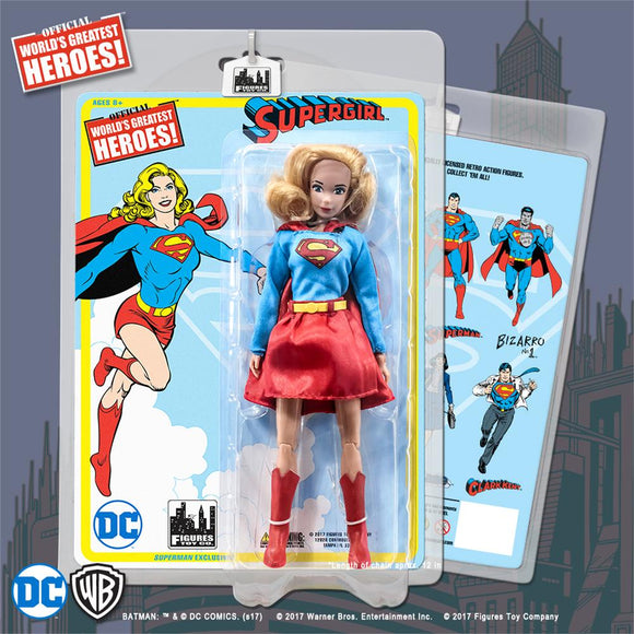 SUPERMAN RETRO SUPERGIRL (DRESS/SKIRT VAR) 8IN AF
