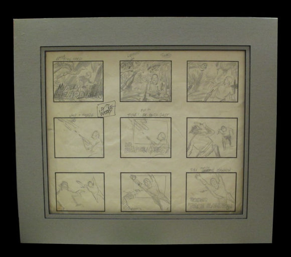 Doug Wildey Storyboard for Jonny Quest Opening Credits