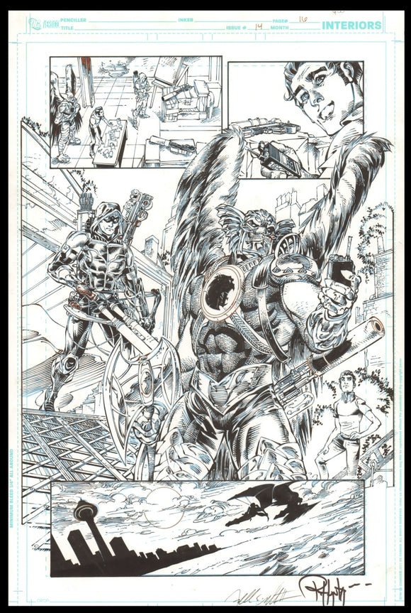 Rob Hunter and Freddie Williams II Page 16 of 'Sky War' from Green Arrow #14