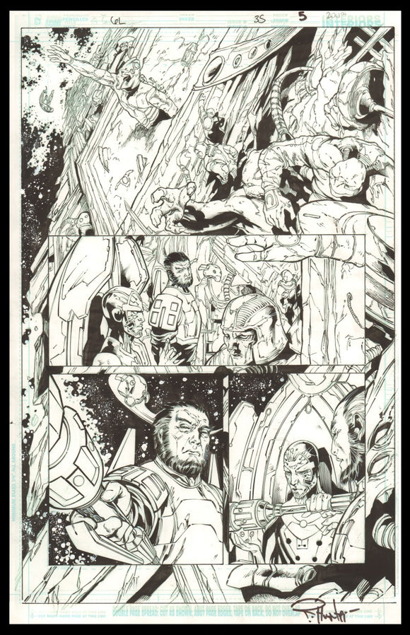 Rob Hunter and Billy Tan Page 5 of 'Dead Worlds' from Green Lantern #35