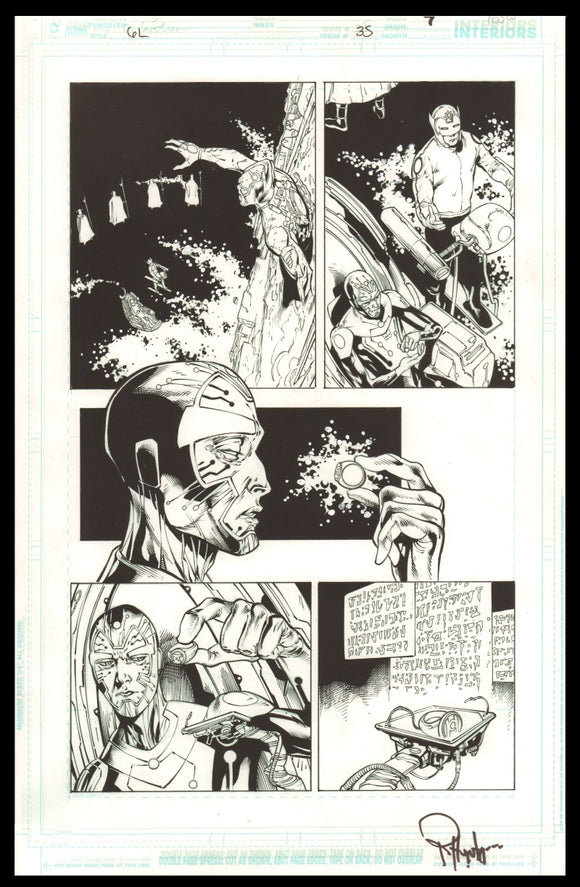 Rob Hunter and Billy Tan Page 7 of 'Dead Worlds' from Green Lantern #35