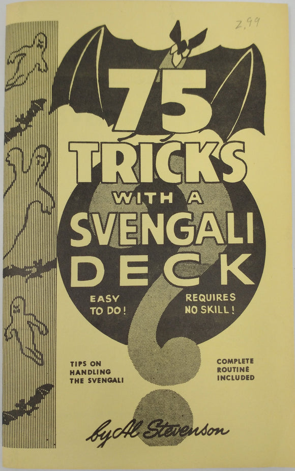75 Tricks With A Svengali Deck (Magic) by Al Stevenson Vintage