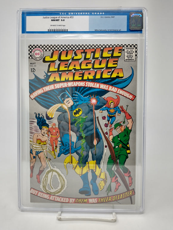 Justice League of America #53 CGC 9.8 NM/MT Highest Graded