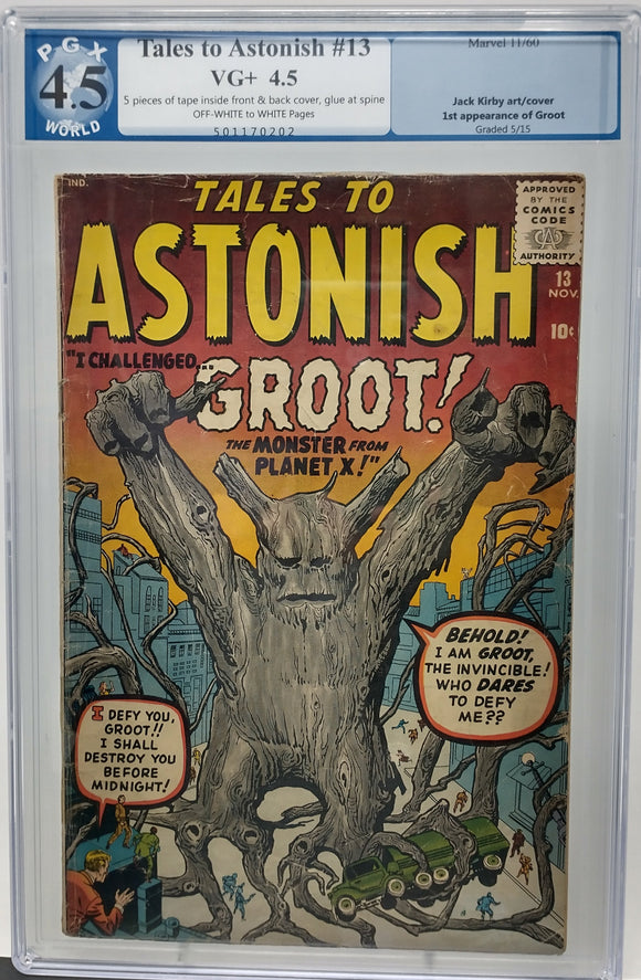 TALES TO ASTONISH #13 ~ PGX 4.5 ~ MARVEL 1960 ~ FIRST APPEEARANCE OF GROOT