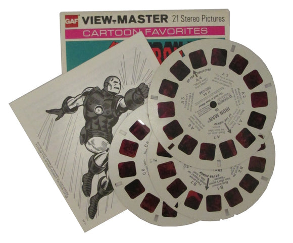Iron Man in 'Spell of Black Widow' View-Master Vintage