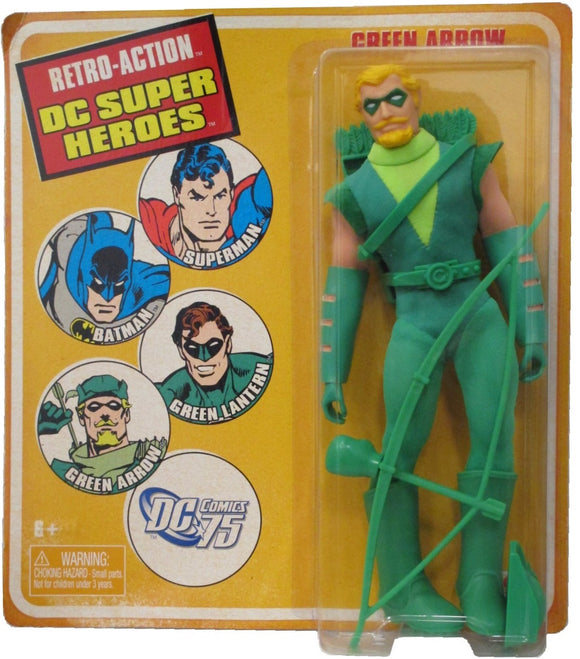 WORLDS GREATEST DC HEROES GREEN ARROW RETRO AF 8IN