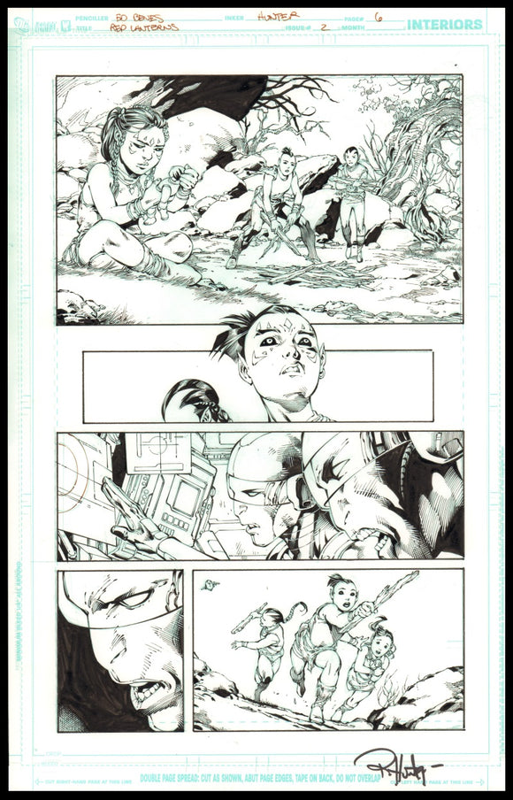 Rob Hunter and Ed Benes Page 6 of 'Pure Rage' from Red Lanterns #2
