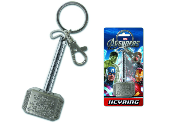 AVENGERS THOR HAMMER PEWTER KEYRING - Toys and Models