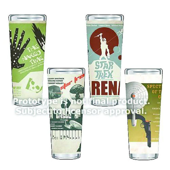 ST TOS FINE ART SHOT GLASS 4PC SER 5 SET - Toys and Models