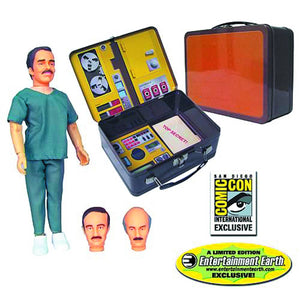 SIX MILLION DOLLAR MAN DR. RUDY WELLS W/TIN TOTE RETRO 8-IN AF - Toys and Models