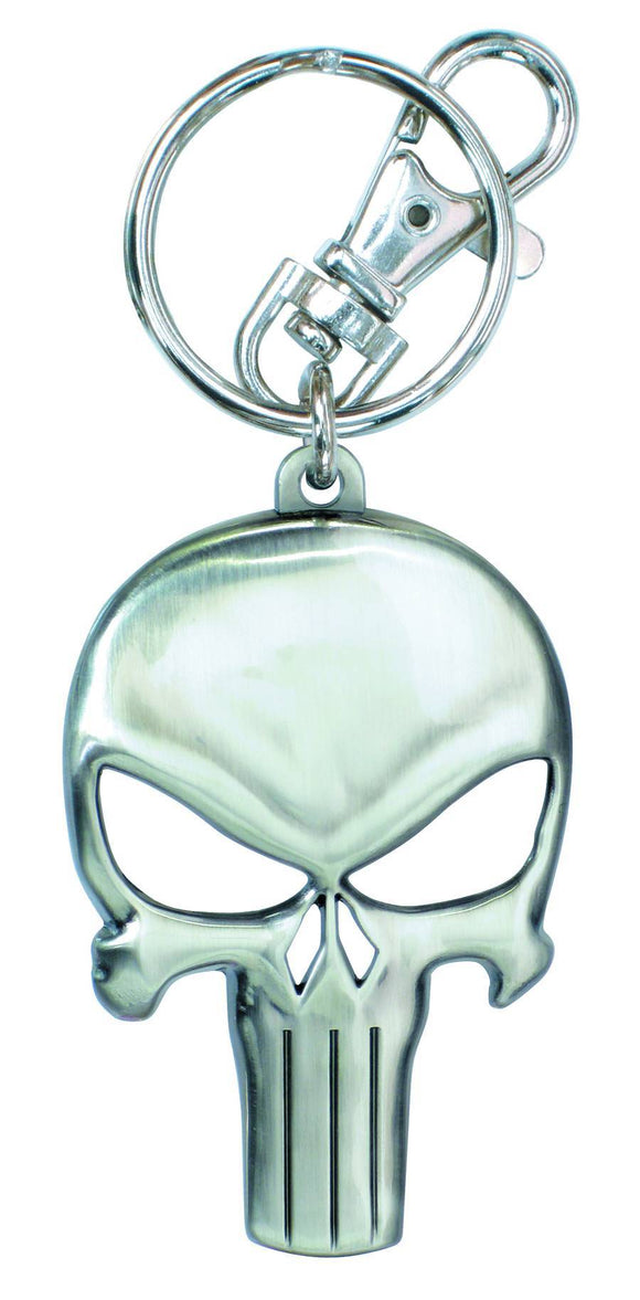PUNISHER SYMBOL SKULL PEWTER KEYRING - Toys and Models