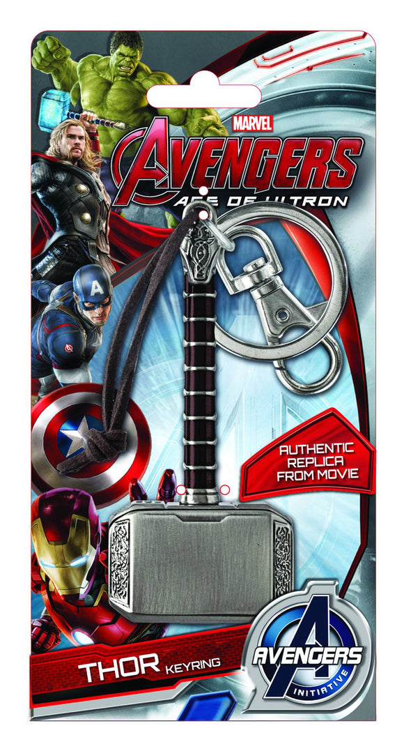 AVENGERS AGE OF ULTRON THOR HAMMER COLOR PEWTER KEYRING - Toys and Models