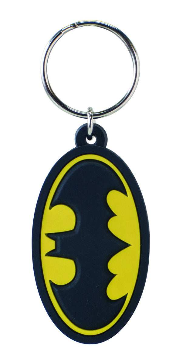 BATMAN SYMBOL LASER CUT SOFT TOUCH PVC KEYRING - Toys and Models