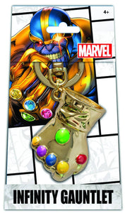 MARVEL INFINITY GAUNTLET SILVER PEWTER KEYRING - Toys and Models