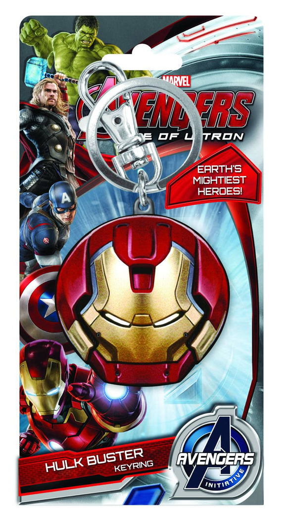 AVENGERS AGE OF ULTRON HULKBUSTER FACE PEWTER KEYRING - Toys and Models