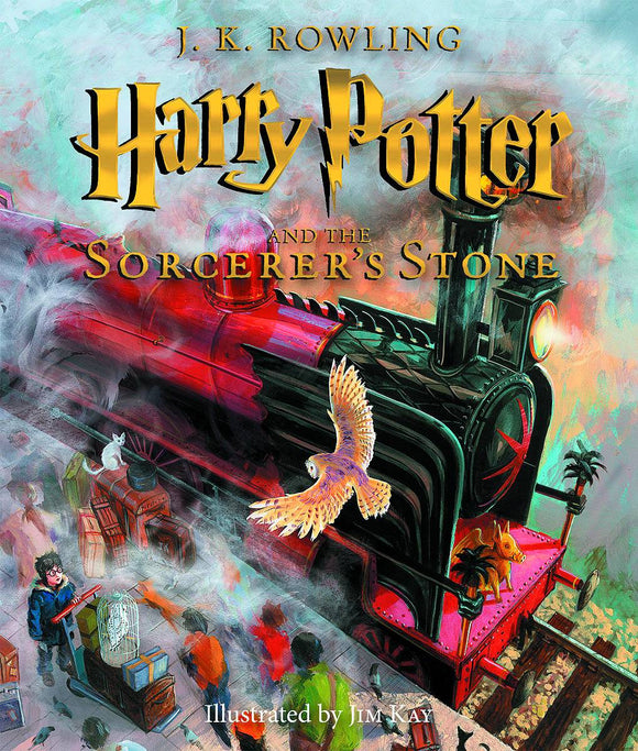 Harry Potter & Sorcerers Stone Illustrated Hc Ed