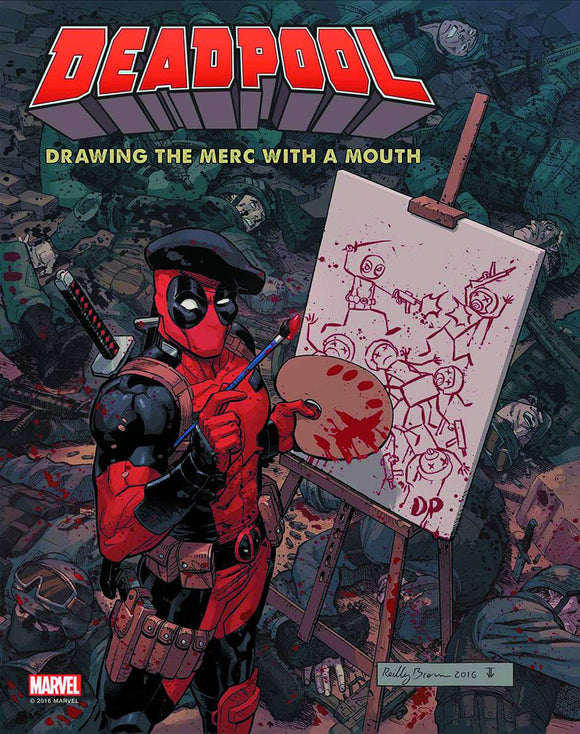 DEADPOOL DRAWING MERC W / MOUTH 3 DECADES MARVEL ART  - Books