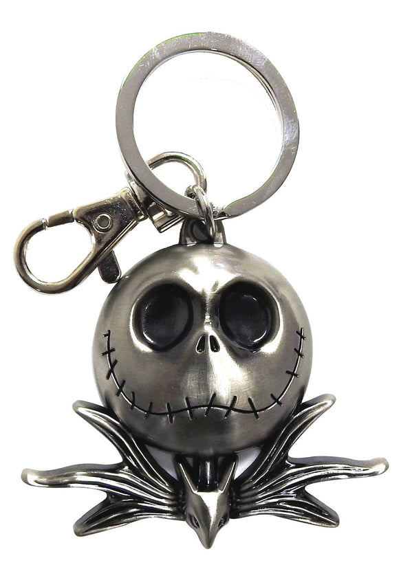 NBX JACK SKELLINGTON PEWTER KEYRING  - Toys and Models