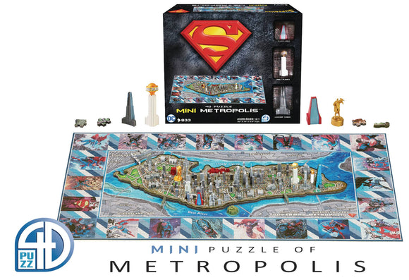 4D Mini Superman Metropolis Puzzle