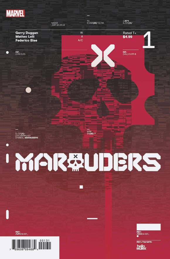Marauders #1 10 Hickman Design Var  Dx
