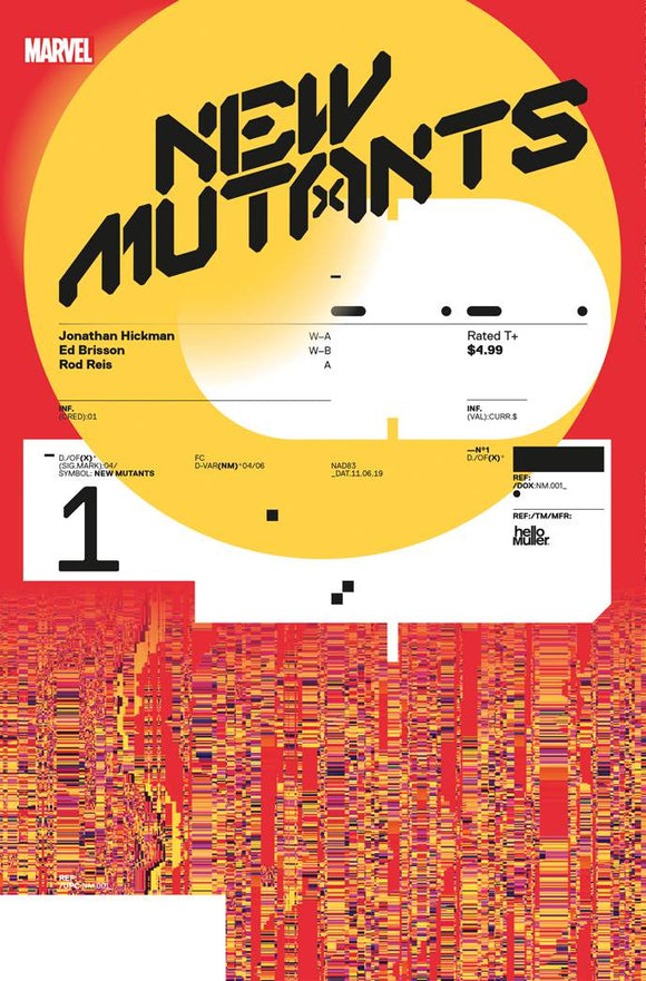New Mutants #1 10 Hickman Design Var  Dx