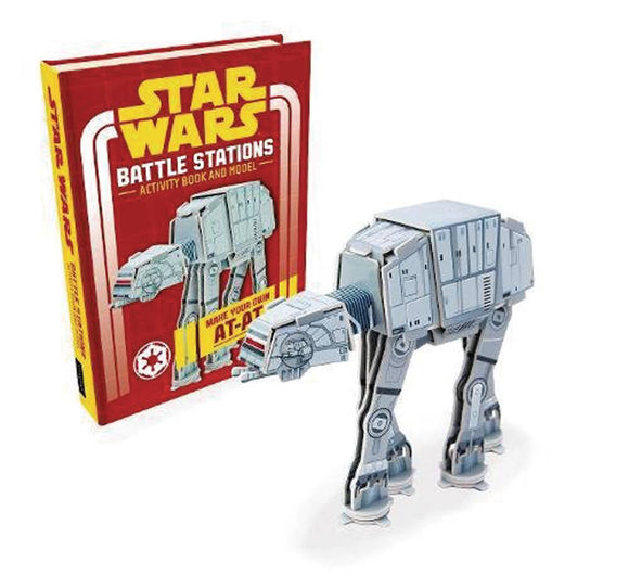 STAR WARS BATTLE STATIONS MAKE OWN AT-AT BOOK & MODEL HC - Books