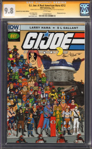 G.I. Joe: A Real American Hero #212 EC Exclusive Variant Cobra Cover Signed by Adam Riches CGC 9.8 Pac-Man and Zartan Sketch