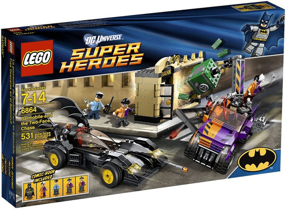LEGO DC BATMOBILE & TWO-FACE CHASE 6864