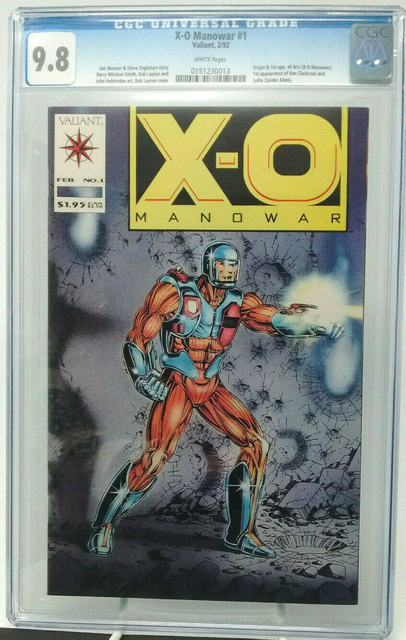 X-O MANOWAR #1 ~ 1992 Valiant ~ CGC 9.8 NM/M ~ Origin & 1st appear. of Aric