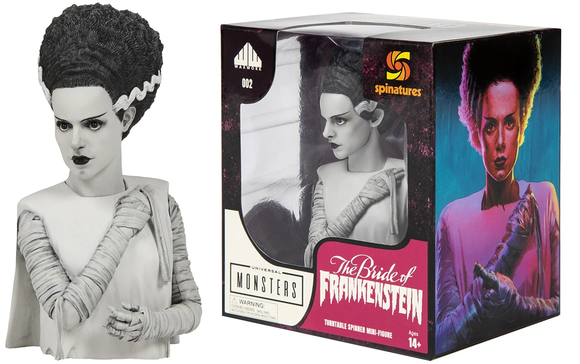 SPINATURES BRIDE OF FRANKENSTEIN TURNTABLE SPINNER MINI FIGURE