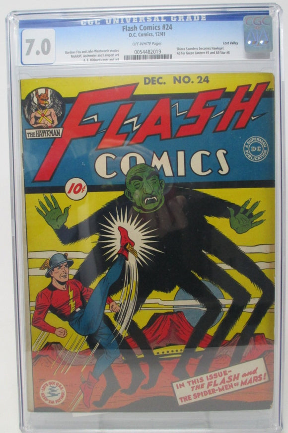 Flash Comics #24 ~ DC 1941 ~ CGC 7.0 ~ 1st Full Appearance of Hawkgirl