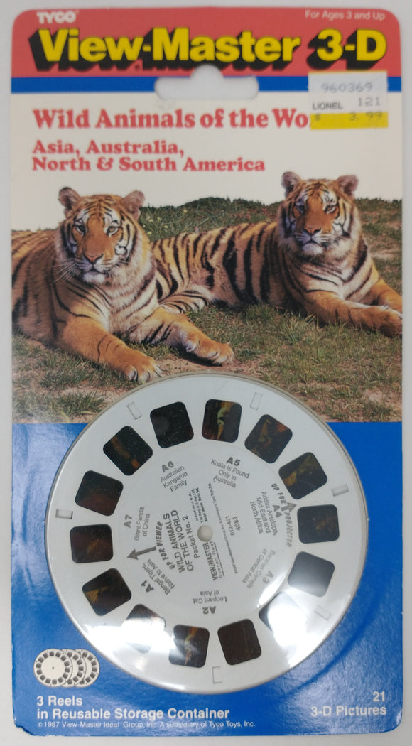 Wild Animals of the World Asia, Australia, North & South America View-Master