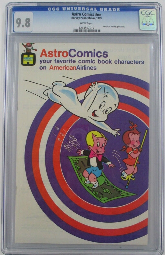 Astro Comics CGC 9.8 NM/MT American Airlines Promo Casper ~ Richie Rich Harvey