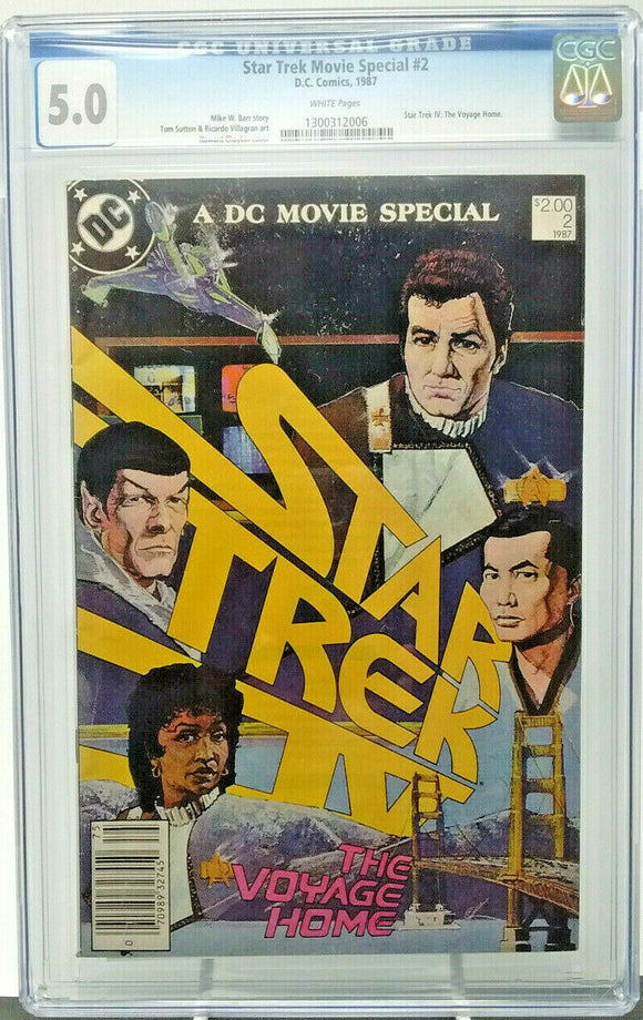 STAR TREK MOVIE SPECIAL #2 ~ 1987 DC ~ CGC 5.0 VG/F ~ Star Trek IV: Voyage Home