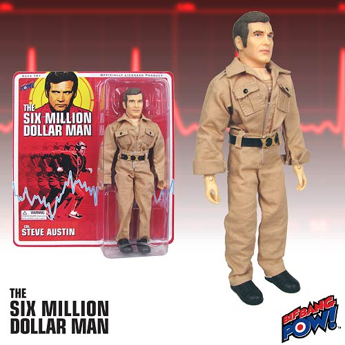 SIX MILLION DOLLAR MAN STEVE AUSTIN KHAKI SUIT RETRO AF 8 IN