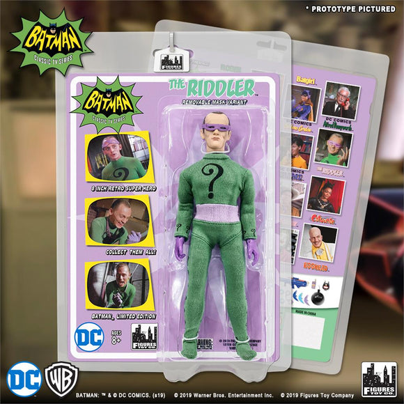 BATMAN 66 RETRO RIDDLER REMOVABLE MASK 8IN AF