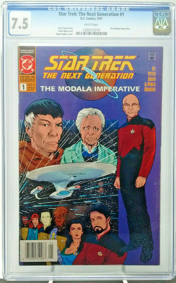 STAR TREK: NEXT GENERATION #1 ~ 1991 DC ~ CGC 7.5 VG- ~ The Modala Imperative