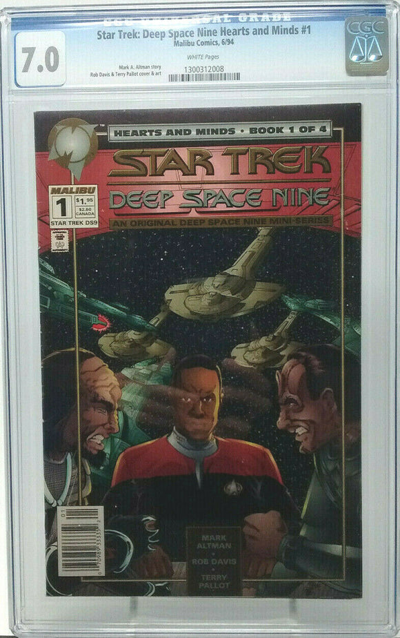 STAR TREK: DEEP SPACE NINE HEARTS AND MINDS #1 ~ 1994 Malibu ~ CGC 7.0 FN/VF