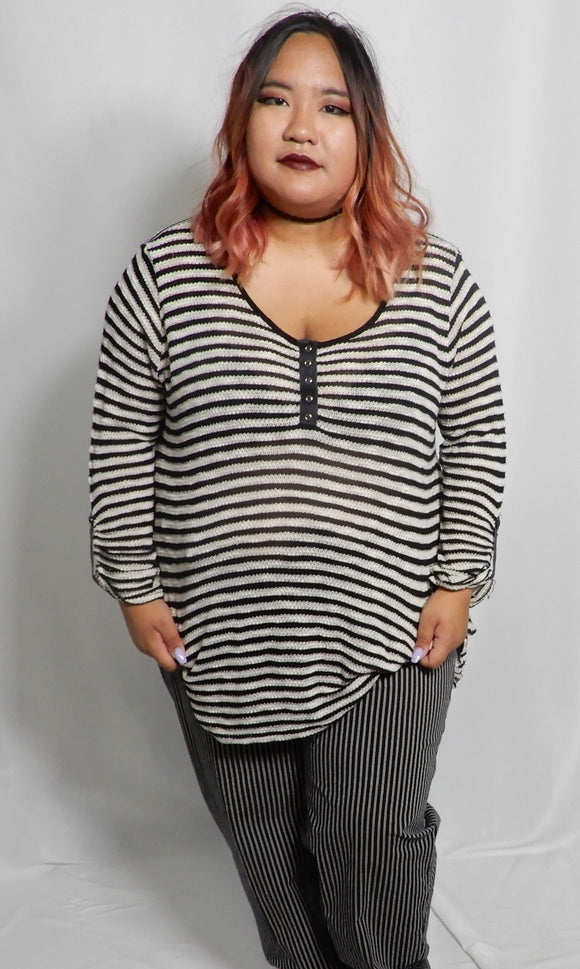 XL Striped Sweater