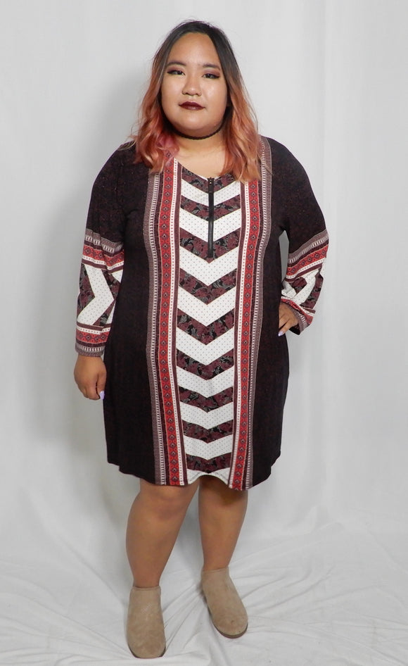 XL Geometric Dress