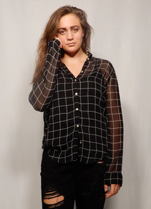 Medium Translucent Grunge Blouse