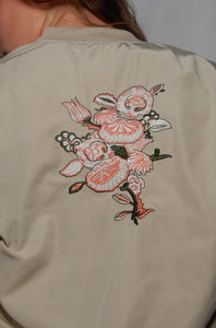 XL Embroidered Flower Jacket