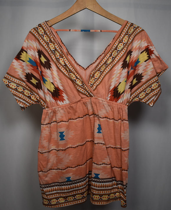Large Geometric Blouse