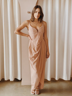Zimmerman Silk Plunge Drape Dress - Size 2